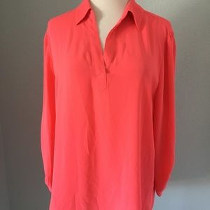 Chico's Coral Pull Over Blouse Chico's Size 2